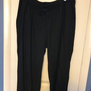 Old Navy Pants - Women's Linen Pants Black White Old Navy